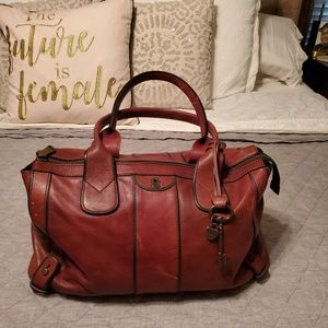Fossil Large leather travel bag